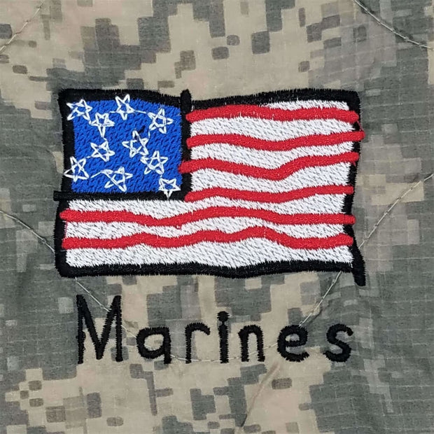 Kids Marines - American Flag - Personalize