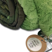 Woodland Camo with Lime Green Fur - Scroll Flag in Greens 9lbs 12 oz