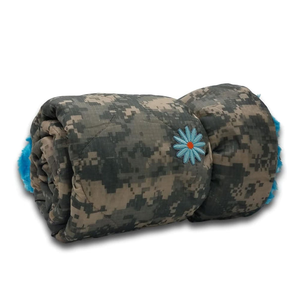 Wee Woobie Weighted Blanket - ACU Bright Blue Fur - Wee Woobie Weighted Blanket