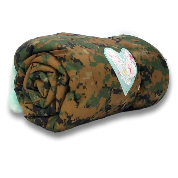 Wee Woobie Weighted Blanket - MARPAT Camouflage Faux Fur - Wee Woobie Weighted Blanket