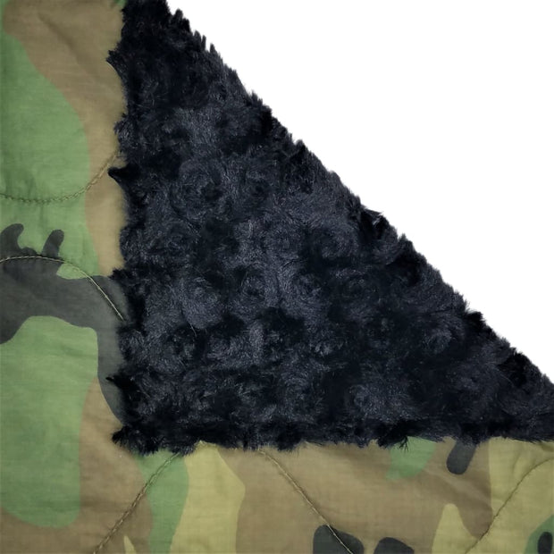 Woobie Weighted Blanket - Woodland Camouflage Pattern - Black / 4 - 5lbs - Custom Woobie