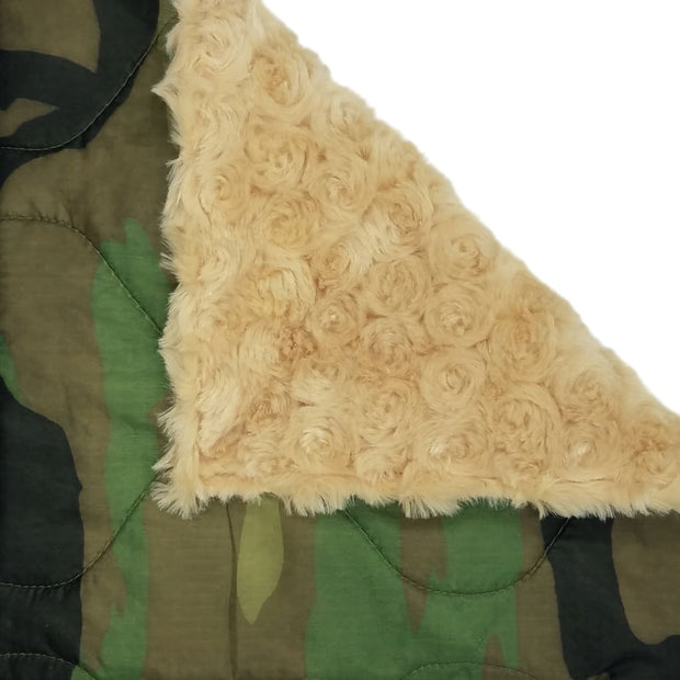 Woobie Weighted Blanket - Woodland Camouflage Pattern - Camel / 4 - 5lbs - Custom Woobie