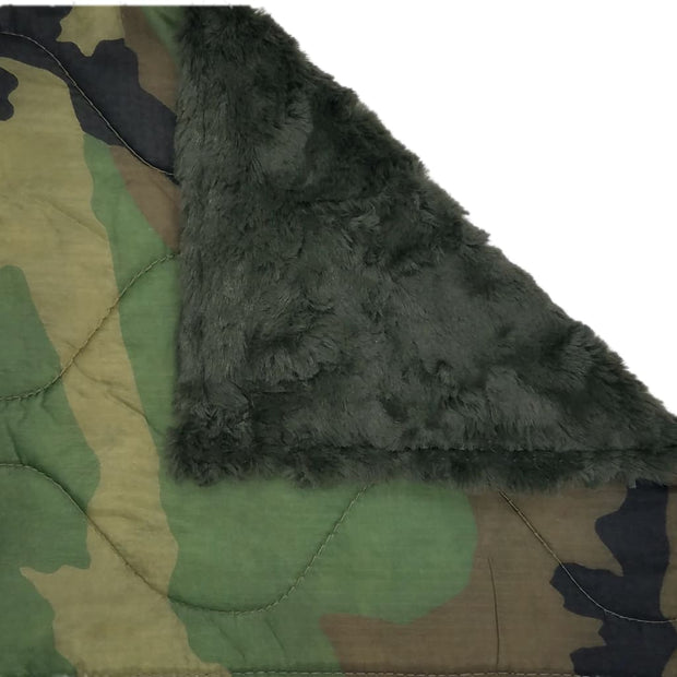 Woobie Weighted Blanket - Woodland Camouflage Pattern - Loden / 4 - 5lbs - Custom Woobie