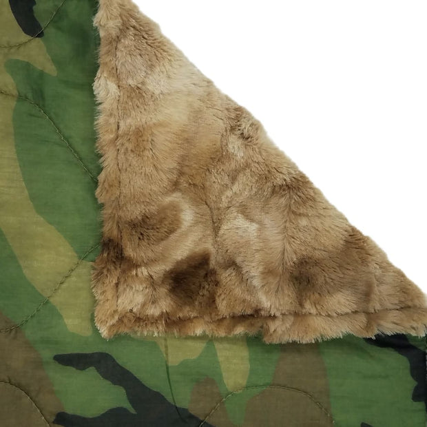 Woobie Weighted Blanket - Woodland Camouflage Pattern - Taupe / 4 - 5lbs - Custom Woobie