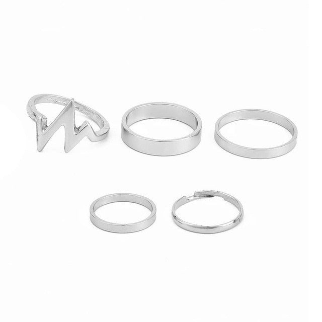 5 Piece Ring Set
