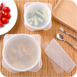 Food Wrap Kitchen Silicone Stretch Cling Film & Last Day