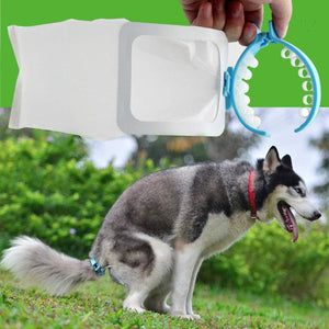 Disposable Dog's Pouch Portable Dog's Pouch Pet Picker Clip Garbage Bag Dog Feces