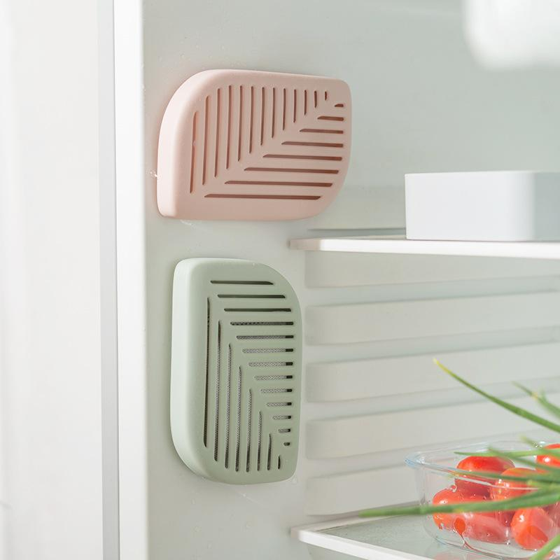 Leaf Shape Refrigerator Air Fresh Box Purifier(Contain Carbon Bag )