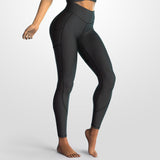 Premium High Waist Leggings - Black Rosé
