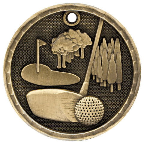 3D Golf Medal - Red Carpet Trophy Shop