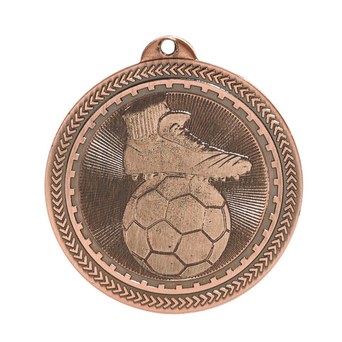 "2"" Soccer Laserable BriteLazer Medal - Red Carpet Trophy Shop"