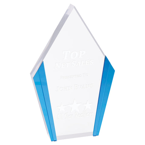 Diamond Acrylic Award with Color Edges - Red Carpet Trophy Shop
