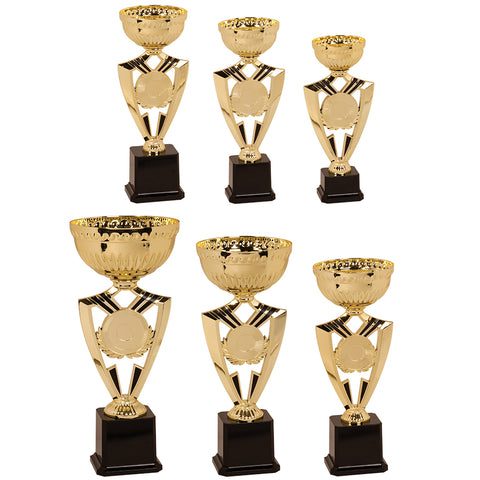 "Gold Ribbon 2"" Insert Holder Trophy Cup Kit - Red Carpet Trophy Shop"