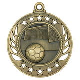 "2 1/4"" Antiqued Soccer Galaxy Medal - Red Carpet Trophy Shop"