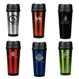 16oz. Laserable Stainless Steel Travel Mug without Handle - Red Carpet Trophy Shop