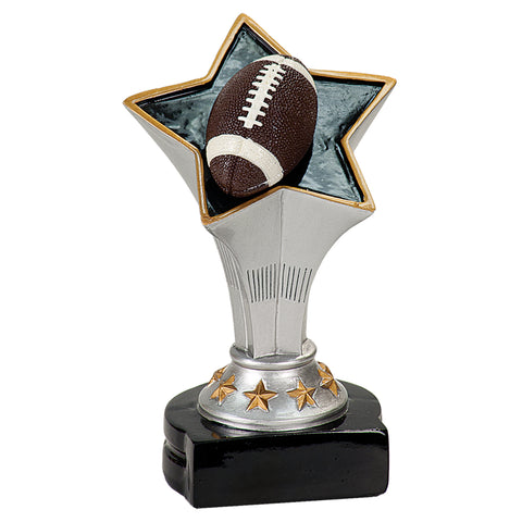 Football Rising Star Sculpture Trophy - Red Carpet Trophy Shop
