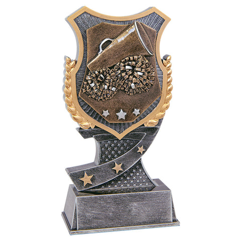 Cheer Shield Sculpture Trophy - Red Carpet Trophy Shop