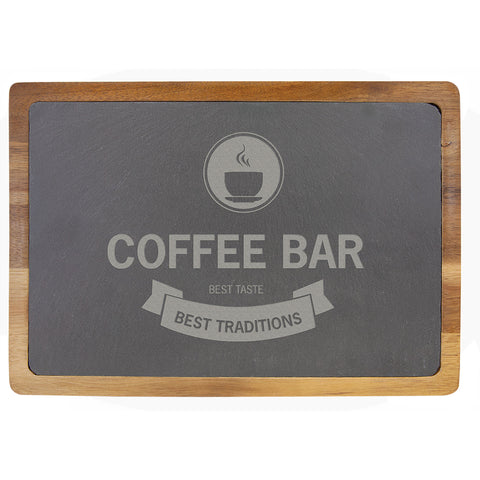 Acacia Wood/Slate Cutting Board - Red Carpet Trophy Shop
