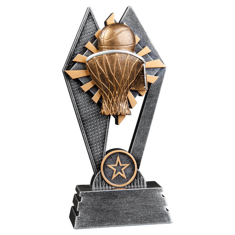 Basketball Sun Ray Sculpture Trophy - Red Carpet Trophy Shop