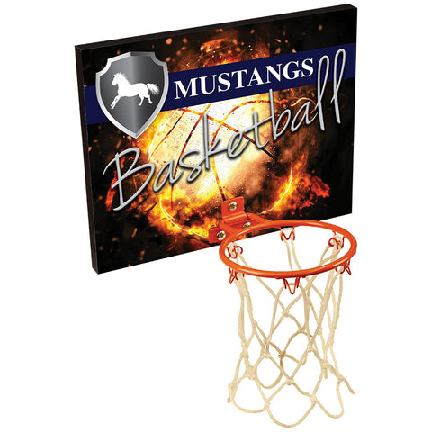 Basketball Plaque with Hoop - Red Carpet Trophy Shop