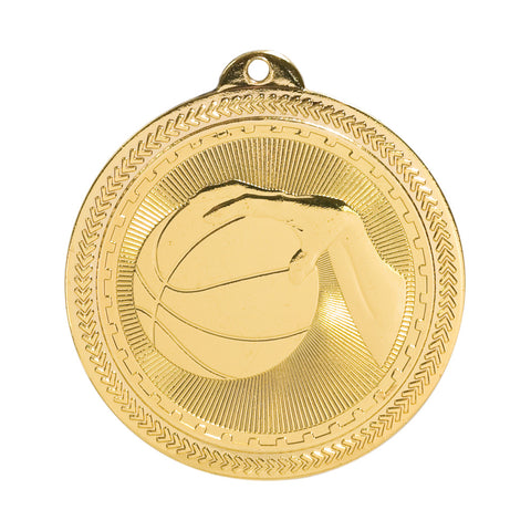 Basketball Laserable BriteLazer Medal - Red Carpet Trophy Shop
