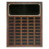 Cherry Finish Completed Perpetual Plaque - Red Carpet Trophy Shop