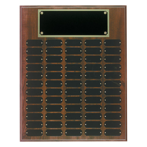 Cherry Finish Completed Perpetual Plaque