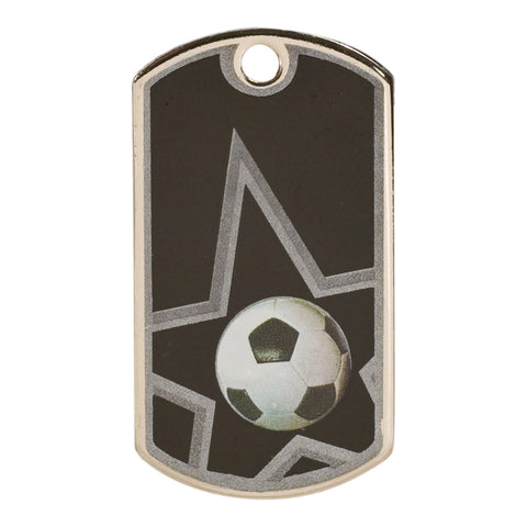 Laserable Dogtag Soccer Medal - Red Carpet Trophy Shop