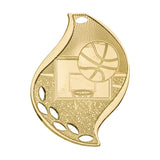 Basketball Flame Medal - Red Carpet Trophy Shop
