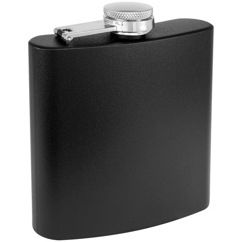 6 oz. Powder Coated Laserable Stainless Steel Flask
