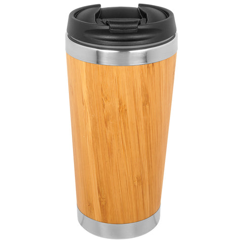 15 oz. Bamboo Stainless Steel Tumbler - Red Carpet Trophy Shop