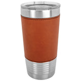 20 oz. Laserable Leatherette Polar Tumbler with Clear Lid - Red Carpet Trophy Shop