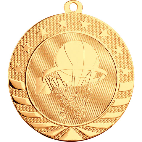 Basketball Starbrite Medal - Red Carpet Trophy Shop