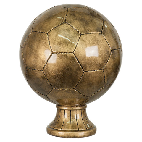 Antique Gold Soccer Ball Award - Red Carpet Trophy Shop