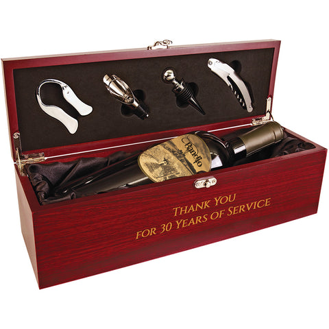 Single Wine Box with Tools - Red Carpet Trophy Shop