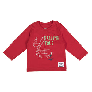 Babybol - Red Sailing Tour Long Sleeve Top - Stylemykid.com