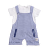 Babybol - Striped Dungarees and Top Baby 2 Piece Outfit - Stylemykid.com