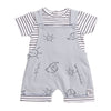 Babybol - Sunshine and Elephants Dungarees and Top Baby 2 Piece Outfit - Stylemykid.com