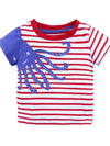 Bubbly Blue Octopus Striped Boys T-Shirt - Stylemykid.com