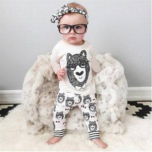 Busy Bear Outfit - Kids T-shirt and Trousers Set - Stylemykid.com