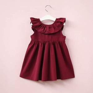 Wine Bow Back Party Dress 2-2-3y - Stylemykid.com