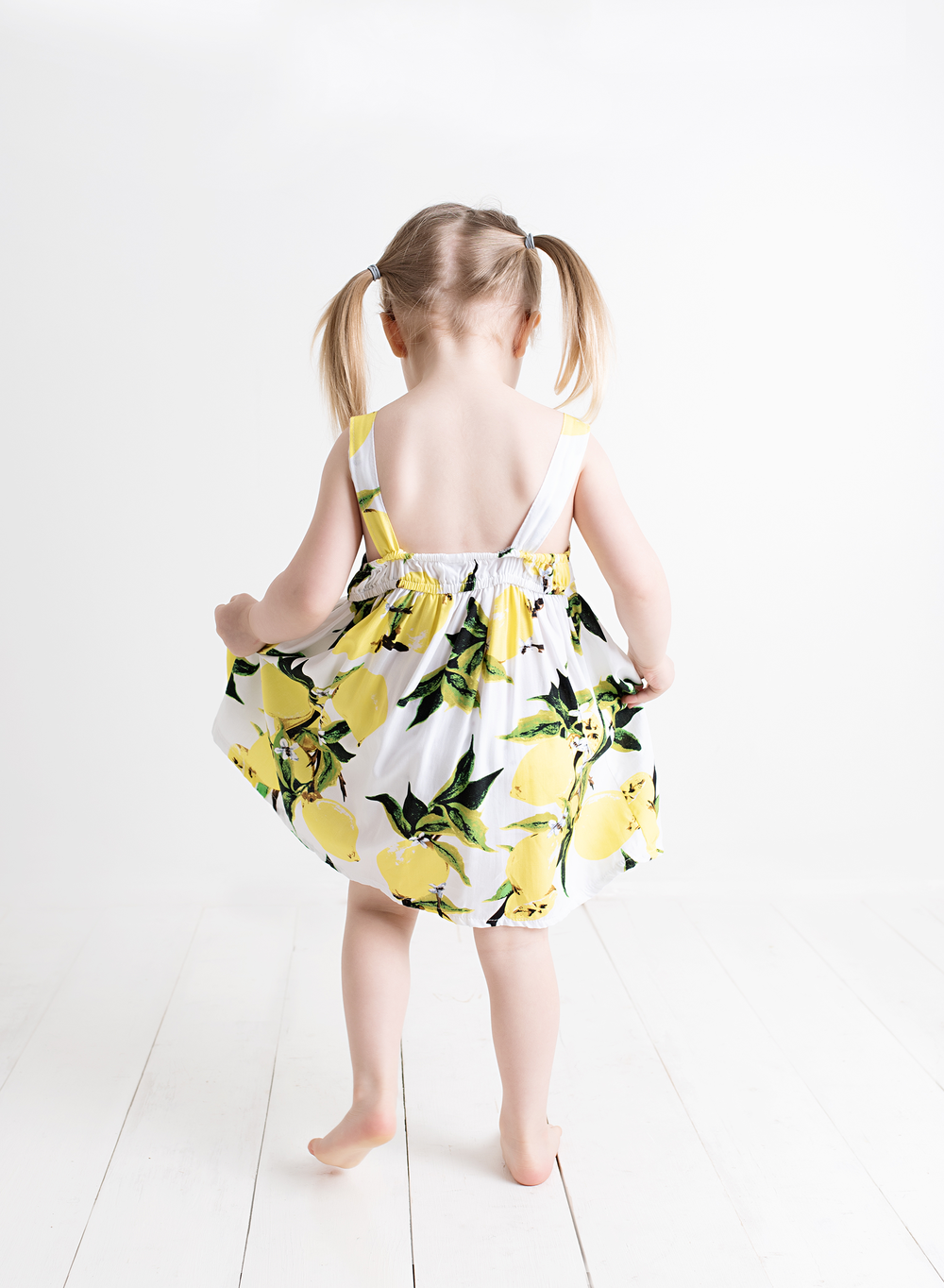 Sweet Little Bow Dress - Lemon - Stylemykid.com
