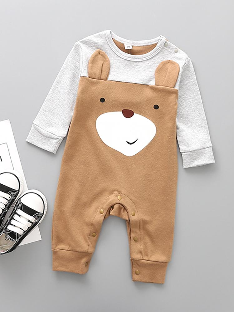 Brown Bear Baby Sleepsuit - Stylemykid.com