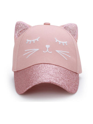 Girls 3D BaseBall Cap - Cat - Stylemykid.com