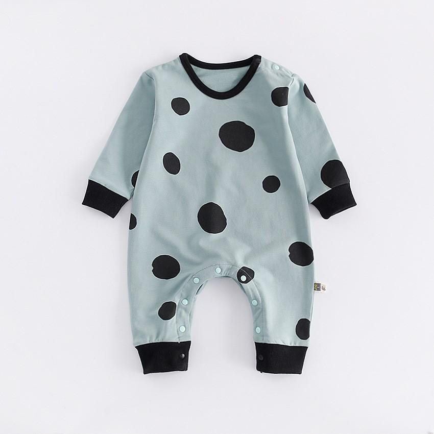 Mint Choc Chip - Mint green baby onesie with black dots 3 to 12 months - Stylemykid.com