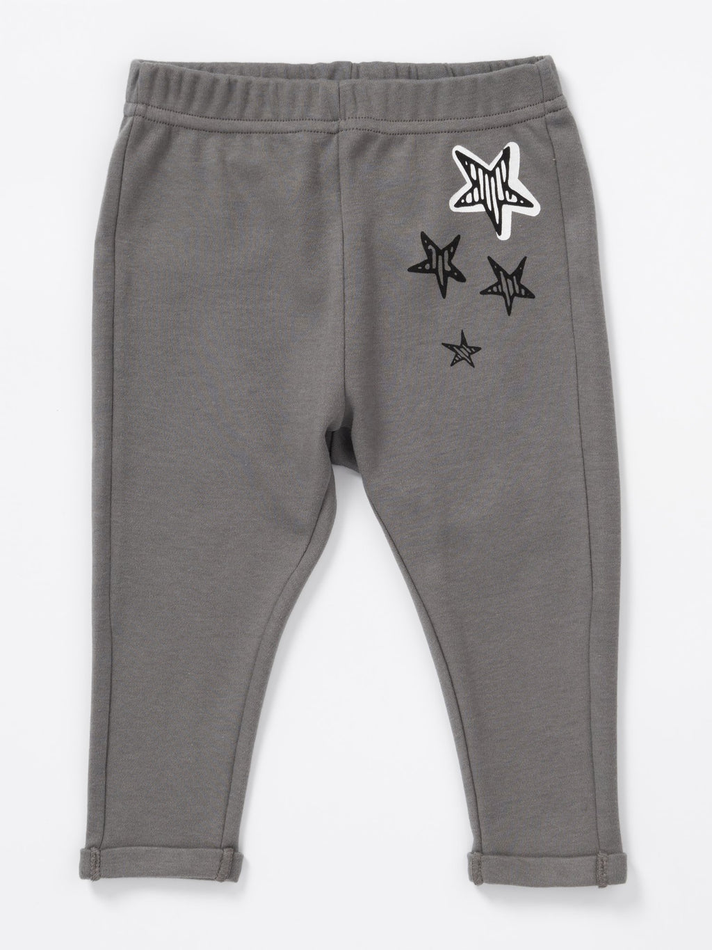 Artie - Kids Grey Leggings with Star Design - Stylemykid.com