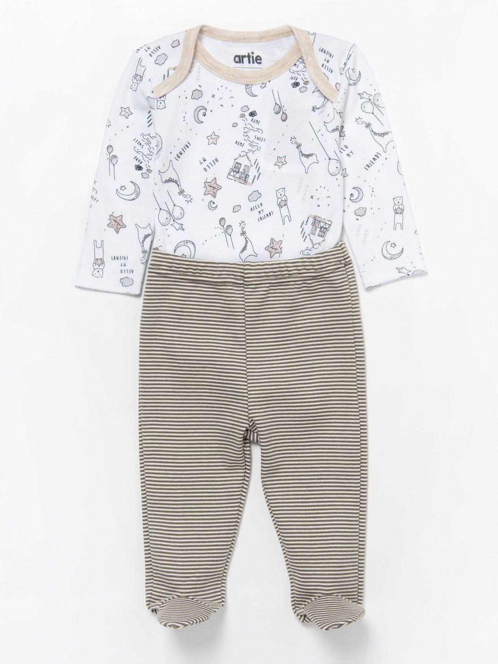 Stripes Footed Leggings - Unisex 0 to 6 months - Stylemykid.com