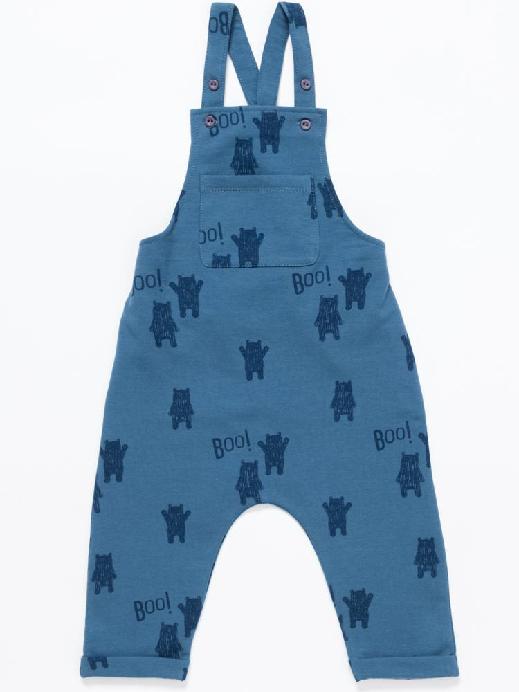 Artie - Kids Blue French Terry Dungarees - Stylemykid.com
