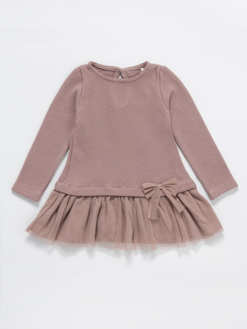 Dusky Rose Tulle Frill Jumper Dress - Girls 3 months to 4 years - Stylemykid.com
