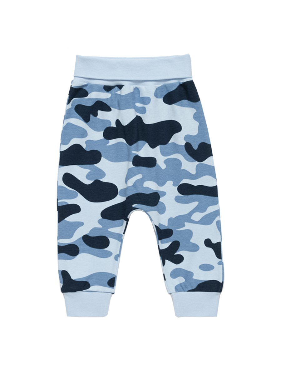 Artie - Blue Camouflage Patterned Baby Bottoms - Stylemykid.com